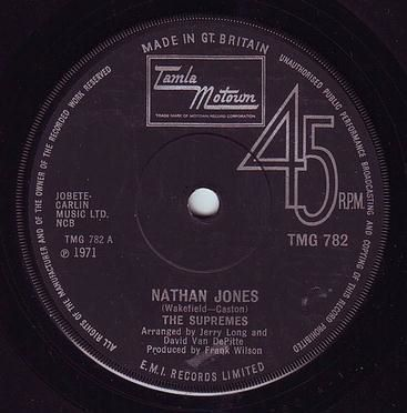 SUPREMES - NATHAN JONES - TMG 782