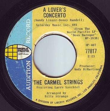 CARMEL STRINGS - A LOVER'S CONCERTO - WORLD PACIFIC DEMO