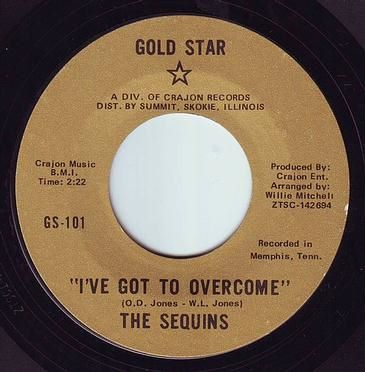 SEQUINS - I'VE GOT TO OVERCOME - GOLD STAR
