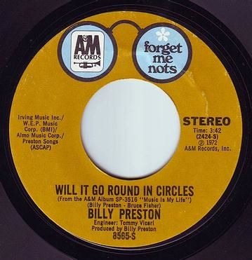 BILLY PRESTON - WILL IT GO ROUND IN CIRCLES - A&M F.M.N.