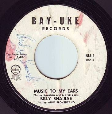 BILLY SHA-RAE - MUSIC TO MY EARS - BAY-UKE