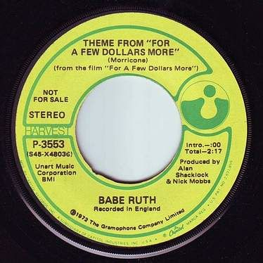 "BABE RUTH - THEME FROM ""FOR A FEW DOLLARS MORE"" - HARVEST DEMO"