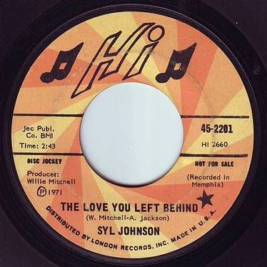 SYL JOHNSON - THE LOVE YOU LEFT BEHIND - HI DEMO