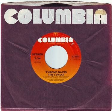 TYRONE DAVIS - THIS I SWEAR - COLUMBIA