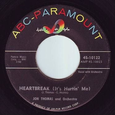 JON THOMAS - HEARTBREAK (IT'S HURTIN' ME) - ABC