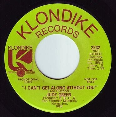 JUDY GREEN - I CAN'T GET ALONG WITHOUT YOU - KLONDIKE DEMO