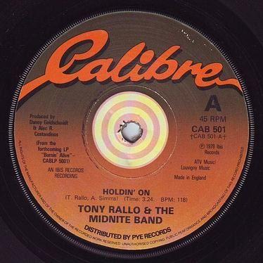 TONY RALLO & THE MIDNITE BAND - HOLDIN' ON - CALIBRE