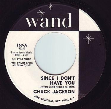 CHUCK JACKSON - SINCE I DON'T HAVE YOU - WAND DEMO