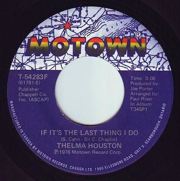 THELMA HOUSTON - IF IT'S THE LAST THING I DO - MOTOWN