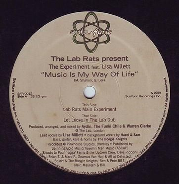 LAB RATS feat LISA MILLETT - MUSIC IS MY WAY OF LIFE - SOULFURIC