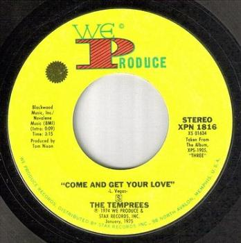 TEMPREES - COME AND GET YOUR LOVE - WE PRODUCE