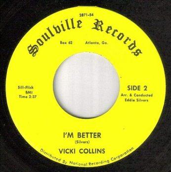 VICKI COLLINS - I'M BETTER - SOULVILLE