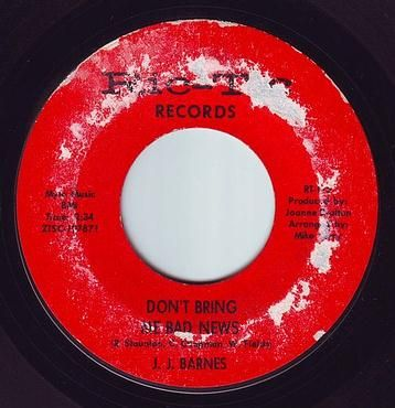 J.J. BARNES - DON'T BRING ME BAD NEWS - RIC-TIC 115