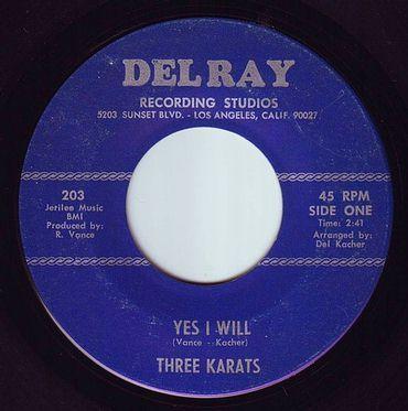 THREE KARATS - YES I WILL - DELRAY