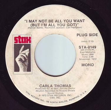 CARLA THOMAS - I MAY NOT BE ALL YOU WANT - STAX DEMO