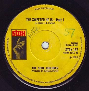 SOUL CHILDREN - THE SWEETER HE IS - STAX