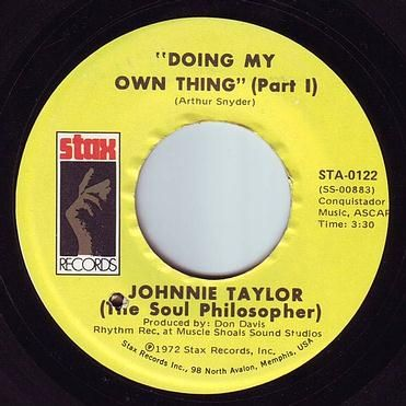 JOHNNIE TAYLOR - DOING MY OWN THING - STAX