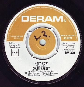 COLIN AREETY - HOLY COW - DERAM