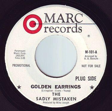 SADLY MISTAKEN - GOLDEN EARRINGS - MARC DEMO