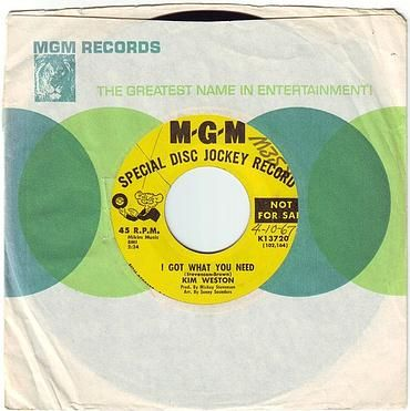 KIM WESTON - I GOT WHAT YOU NEED - MGM DEMO
