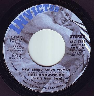 HOLLAND-DOZIER - NEW BREED KINDA WOMAN - INVICTUS