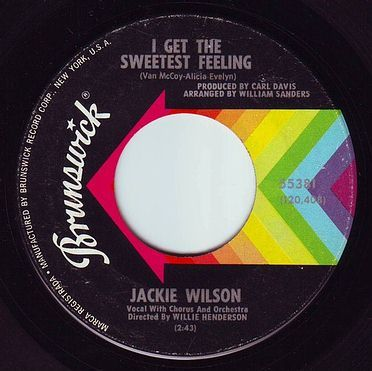 JACKIE WILSON - I GET THE SWEETEST FEELING - BRUNSWICK