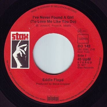 EDDIE FLOYD - I'VE NEVER FOUND A GIRL - STAX