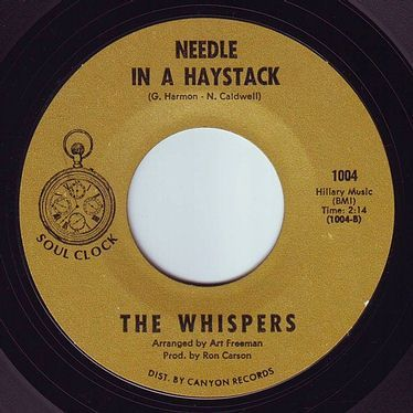 WHISPERS - NEEDLE IN A HAYSTACK - SOUL CLOCK
