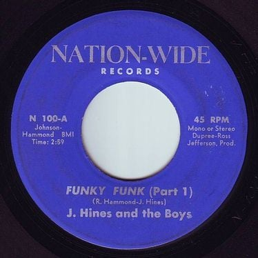 J.HINES & the BOYS - FUNKY FUNK - NATION WIDE
