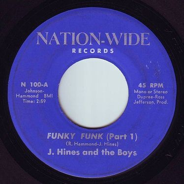 J.HINES & the FUNKY BOYS - FUNKY FUNK - NATION WIDE