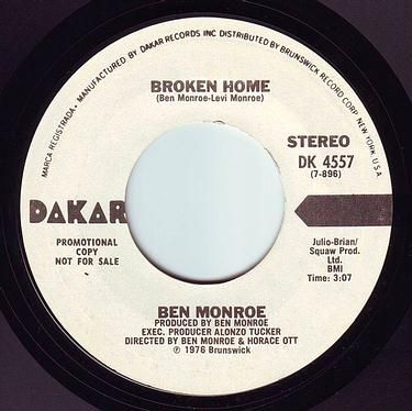 BEN MONROE - BROKEN HOME - DAKAR DEMO