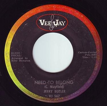 JERRY BUTLER - NEED TO BELONG - VEE JAY