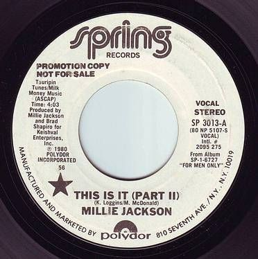 MILLIE JACKSON - THIS IS IT - SPRING DEMO