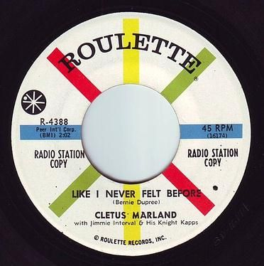 CLETUS MARLAND - LIKE I NEVER FELT BEFORE - ROULETTE DEMO