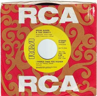 BRIAN AUGER & THE TRINITY - I WANNA TAKE YOU HIGHER - RCA DEMO