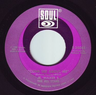 JR. WALKER & THE ALL STARS - COME SEE ABOUT ME - SOUL