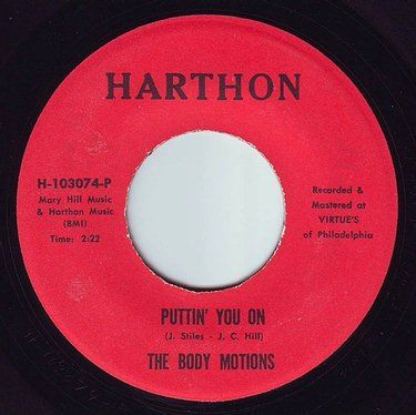 BODY MOTIONS - PUTTIN' YOU ON - HARTHON