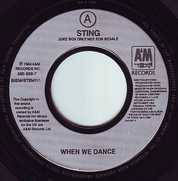 STING - WHEN WE DANCE - A&M