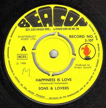 SONS & LOVERS - HAPPINESS IS LOVE - BEACON