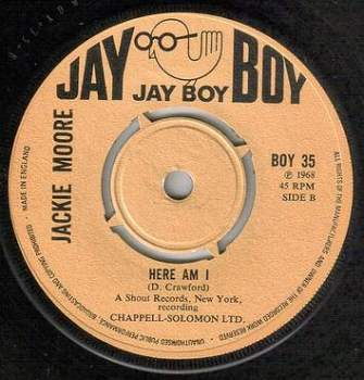 JACKIE MOORE - HERE I AM - JAY BOY