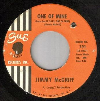 JIMMY McGRIFF - ONE OF MINE - SUE