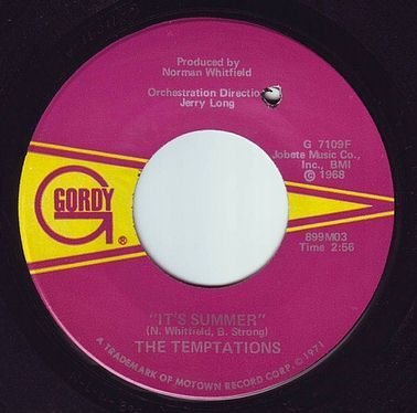 TEMPTATIONS - IT'S SUMMER - GORDY
