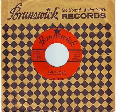 JACKIE WILSON - BABY, THAT'S ALL - BRUNSWICK