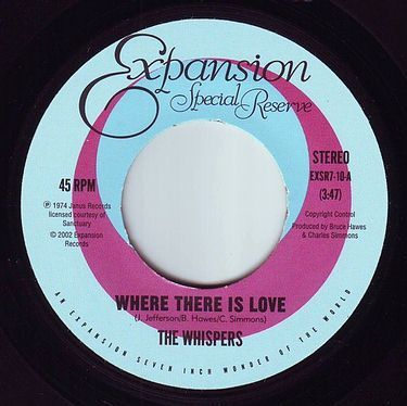 WHISPERS - WHERE THERE IS LOVE - EXPANSION S.R.