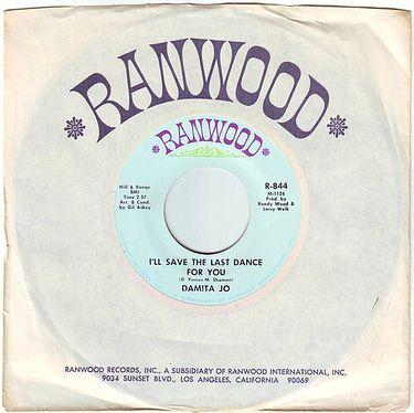 DAMITA JO - I'LL SAVE THE LAST DANCE FOR YOU - RANWOOD