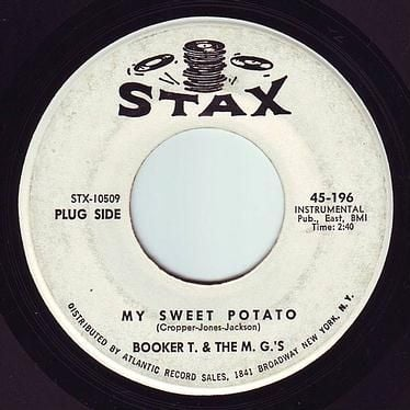 BOOKER T. & THE M.G.'S - MY SWEET POTATO - STAX DEMO