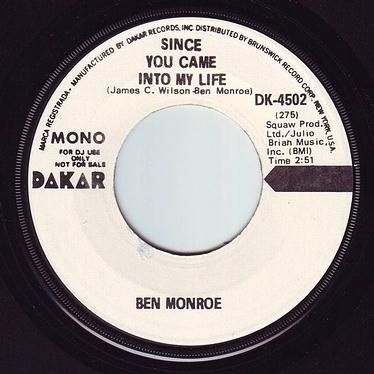 BEN MONROE - SINCE YOU CAME INTO MY LIFE - DAKAR DEMO