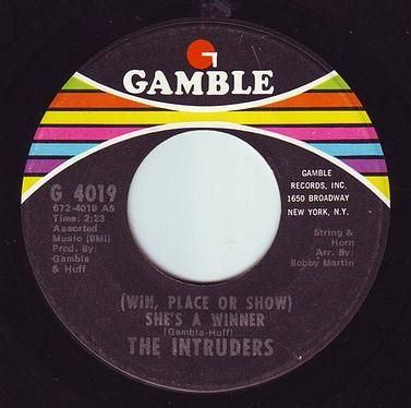 INTRUDERS - SHE'S A WINNER - GAMBLE