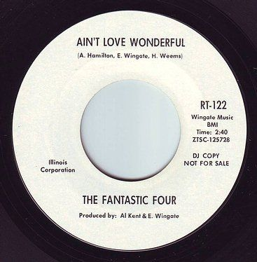 FANTASTIC FOUR - AIN'T LOVE WONDERFUL - RIC-TIC 122 DEMO