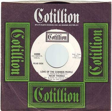 NICKY THOMAS - LOVE OF THE COMMON PEOPLE - COTILLION DEMO